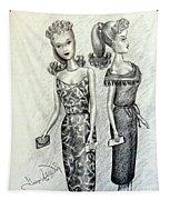 Vintage Ponytail Barbie Tapestry