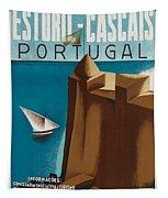Vintage Portugal Travel Poster Tapestry