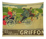 Vintage Poster Bicycle Advertisement Tapestry