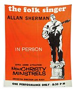 Vintage Poster My Son The Fold Singer Allan Sherman Tapestry
