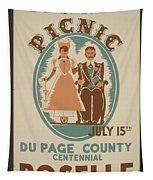 Vintage Poster Old Settlers Picnic Tapestry