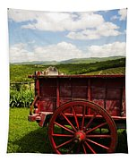 Vintage Red Wagon Tapestry