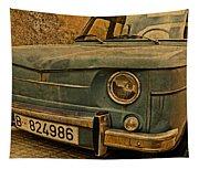 Vintage Rusty Renault Truck Tapestry