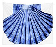 Vintage Scallop Shell Blue Tapestry