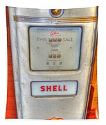 Vintage Shell Gas Pump Tapestry