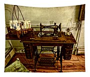 Vintage Singer Sewing Machine Tapestry