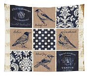 Vintage Songbirds Patch Tapestry