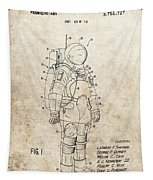 Vintage Space Suit Patent Tapestry