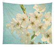 Vintage Spring Blossoms Tapestry