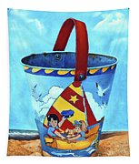 Vintage Tin Sand Bucket Tapestry
