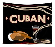 Vintage Tobacco Cuban Cigars Tapestry