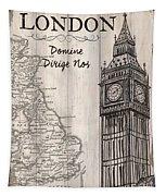 Vintage Travel Poster London Tapestry