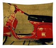 Vintage Vespa Scooter Red Tapestry
