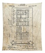 Vintage Voting Machine Patent Tapestry