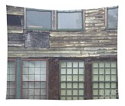 Vintage Warehouse Building Tapestry