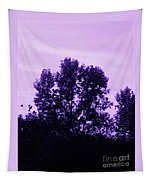 Violet And Black Trees  Tapestry