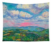 Violet Evening On Rocky Knob Tapestry