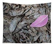 Violet Leaf On The Ground  Tapestry