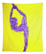Violet Nude Yoga Girl Tapestry