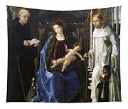 Virgin Of The Knight Of Montesa  Tapestry