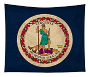 Virginia State Flag Art On Worn Canvas Edition 3 Tapestry