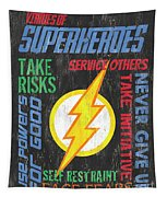 Virtues Of A Superhero 2 Tapestry