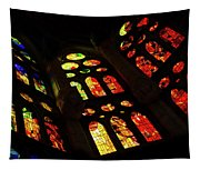 Vivacious Stained Glass Windows Tapestry