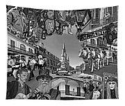 Vive Les French Quarter Monochrome Tapestry
