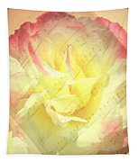 Voice Of The Heart A Rose Portrait Tapestry