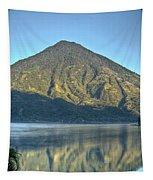 Volcano And Reflection Lake Atitlan Guatemala 3 Tapestry