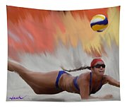 Volleyball Dig Tapestry