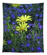 Voltage Yellow And Electric Blue 06 Tapestry