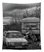 Volvo And Trailer Tapestry