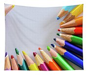 Vortex Of Colored Pencils Tapestry