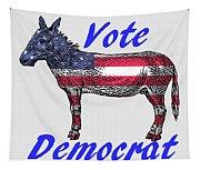 Vote Democrat Tapestry