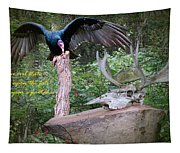vulture with Skull Tapestry