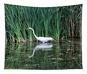 Wading And Waiting Tapestry