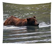 Wading Brown Bear Tapestry