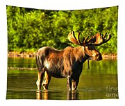 Wading For Breakfast Tapestry