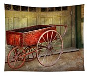 Wagon - That Old Red Wagon  Tapestry