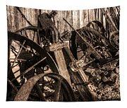 Wagons Whoa Bw Tapestry