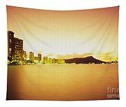Waikiki At Sunset Tapestry