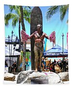 Waikiki Statue - Duke Kahanamoku Tapestry