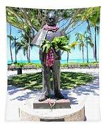 Waikiki Statue - Prince Kuhio Tapestry