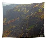 Waimea Canyon On A Misty Day In Kauai Tapestry