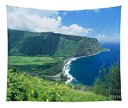 Waipio Valley Lookou Tapestry