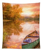 Waiting For The Dawn In Peach Tapestry