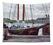 Waiting To Sail Tapestry