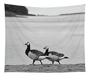 Walk On The Beach. Barnacle Goose Tapestry