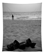 Walk On The Beach Tapestry